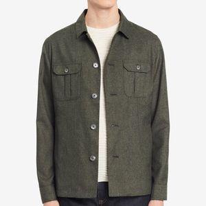 Calvin Klein Men's Heathered Slim-Fit Shirt-Jacket